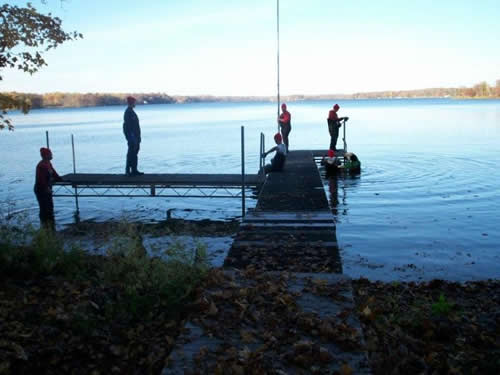 Dock Install Services, Dock Removal Services, Services by Lake Services Unlimited