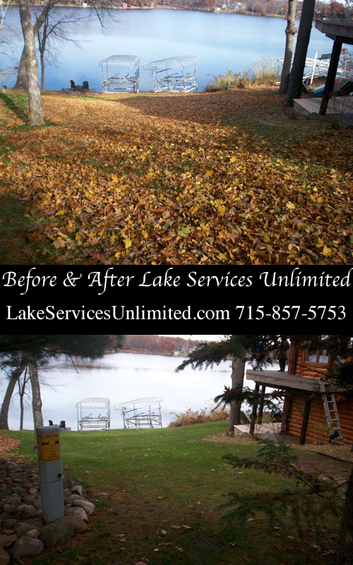 Spring and Fall Lawn Cleanup Services Balsam Lake WI